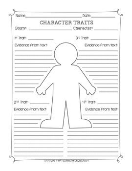 photograph about Character Graphic Organizer Printable titled Wonderful Cost-free Individuality Qualities Image Organizer Worksheet