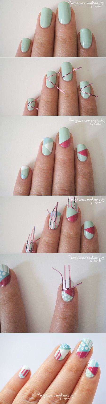 Graphic Nail Art By Myawesomebeauty Is Just Too Cool Get The Look